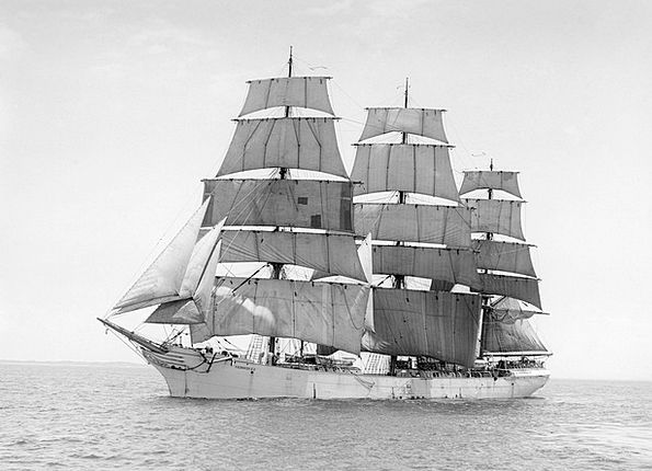 Sailing Vessel Ship Vessel Three Masted G D Kenned