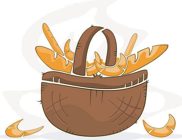 Bread Cash Drink Bag Food Roll Reel Basket Rolls R