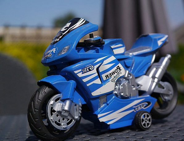 Motorcycle Motorbike Bike Transportation Toy Doll