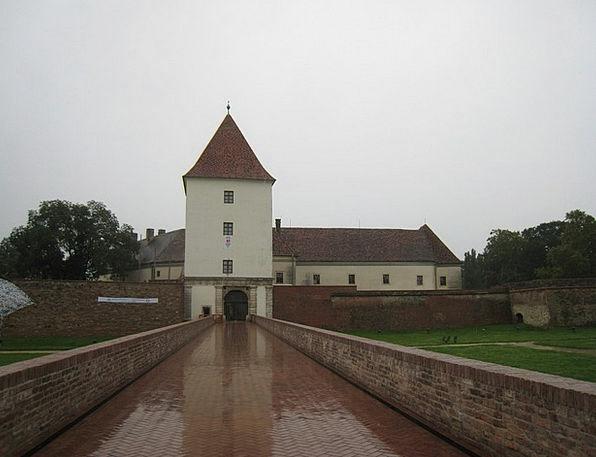 Sarvar Fortress Bridge Bond Castle Moat Ditch Rain