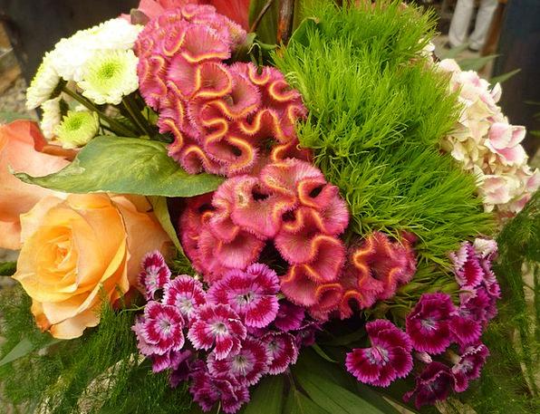 Colorful Interesting Bouquet Bunch Floral Arrangem