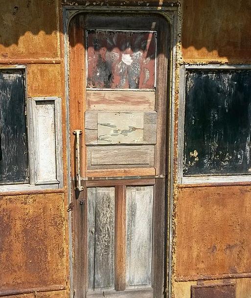 Door Entrance Timber Patina Verdigris Wood Rivet S