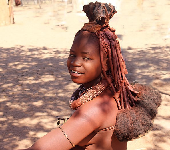 Namibia Fashion Lady Beauty Himba Woman Nature Cou