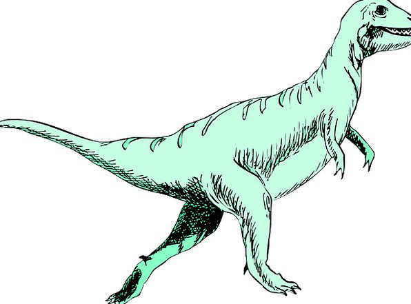 Dinosaur Relic Lime Running Consecutively Green Re