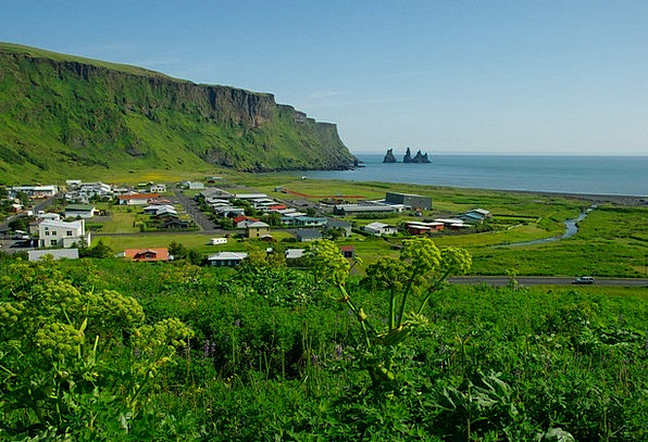 Iceland Vacation Travel Cliff Precipice Vik Beach
