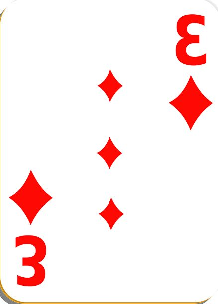 Playing Card Card Diamonds Rhombuses Three Luck Ga