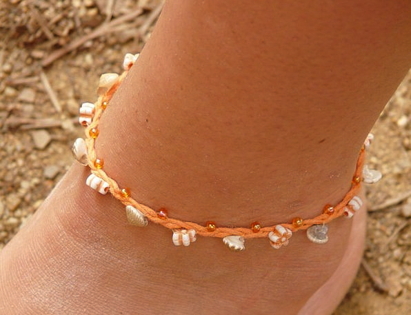 Anklet Bracelet Cable Foot Base Chain Shell Bomb J