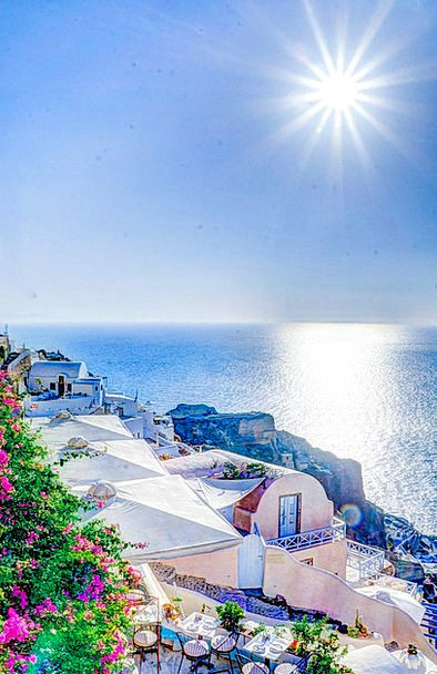 Oia Buildings Architecture Summer Straw-hat Santor