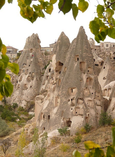 Uchisar Nev?ehir Cappadocia Turkey Rock Apartments