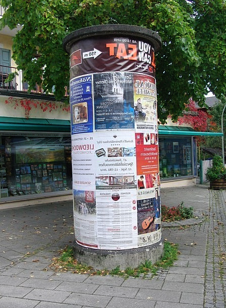 Advertising Pillar Pictures Information Info Poste