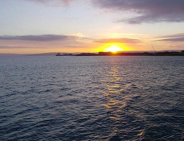 Sunset Sundown Vacation Travel Scotland Orkney Sea