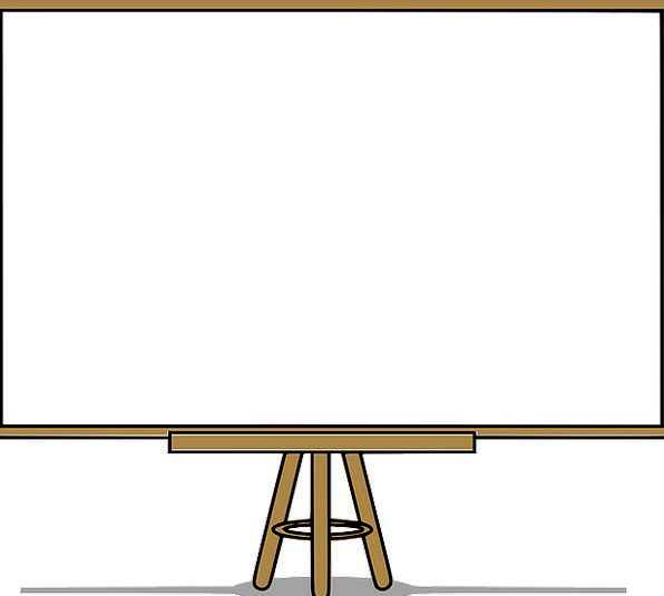 whiteboard finance business blank outright white board