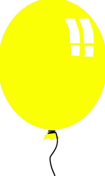 Balloon Inflatable Creamy Birthday Birthdate Yello
