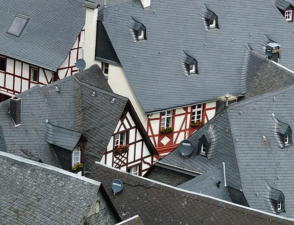 Roofs Rooftops Buildings Architecture Fachwerkhäus