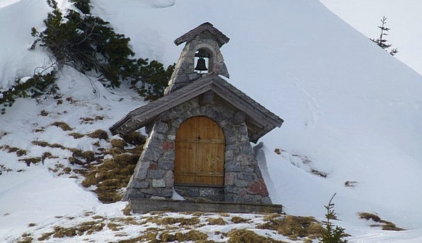 Tyrol Grän Tannheim Sonnenalm Chapel Winter Sanctu