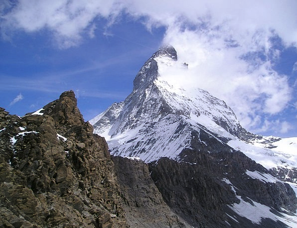 Matterhorn Zermatt Hörnligrat Mountains Crags Alpi