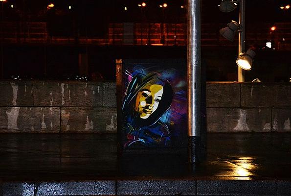 Paris Drawings Docks Harbors Graffiti Night Nightl