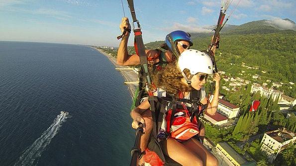 Paraglider Vacation Seashore Travel Boat Ship Beac