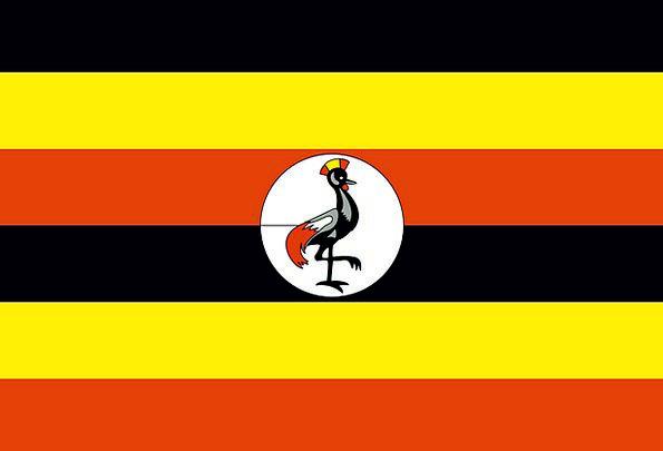Uganda Standard National Nationwide Flag Free Vect
