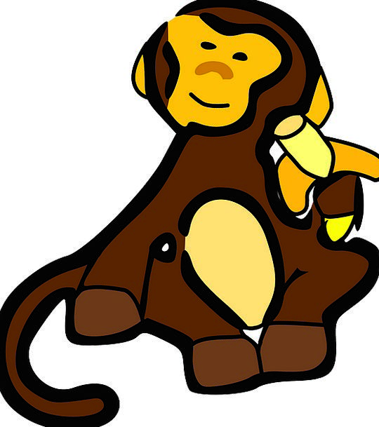 Monkey Ape Physical Cartoon Animation Animal Banan