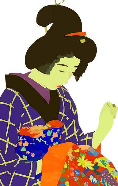 Japanese Fashion Beauty Sewing Stitching Woman Lad