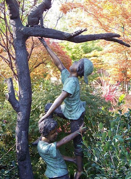 Statue Figurine Garden Statue Bronze Help Garden P