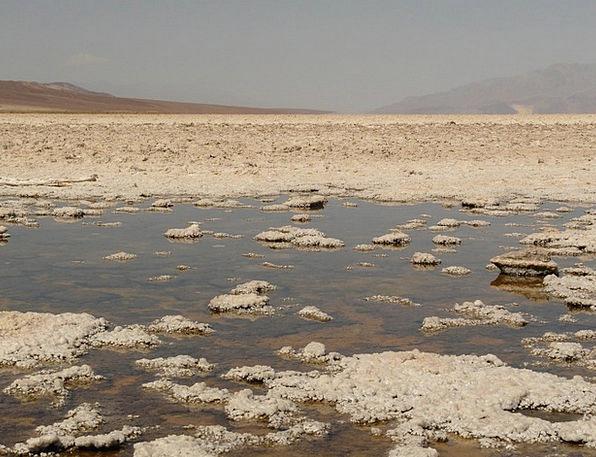 Badwater Salt Lake Salt Pan California Salt Water