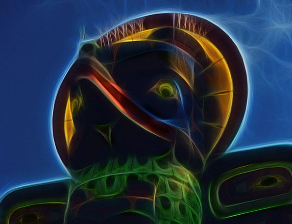 Fractal Icon Native Art Totem Digital Art Mystic A