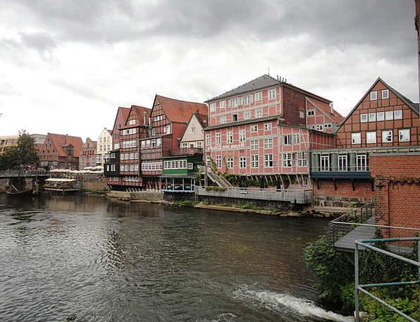 Lüneburg Water Aquatic Old Town Historical Houses