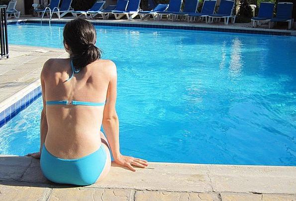 Bikini Two-piece Azure Female Feminine Blue Water