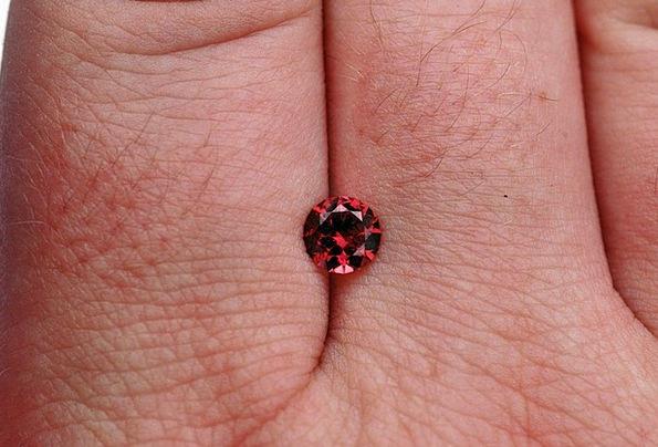 Gem Jewel Garnet Crimson Gemstone Brilliant Vivid