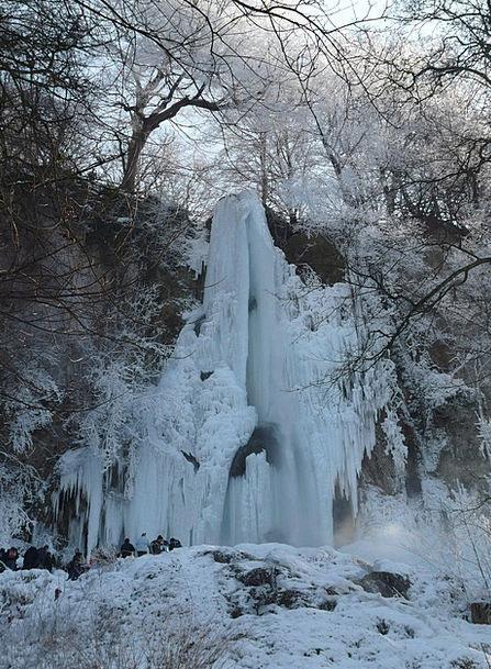 Urach Waterfall Cascade Urach Waterfall Alb Ice Fr