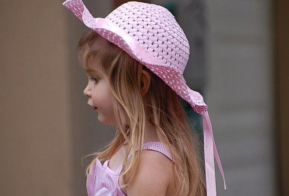 Girl Lassie Flushed Hat Cap Pink Easter Dress Fash