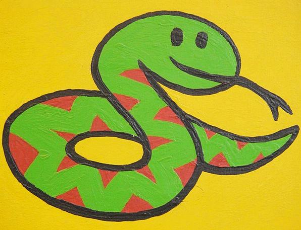 Snake Serpent Drawing Sketch Cartoon Character Fun