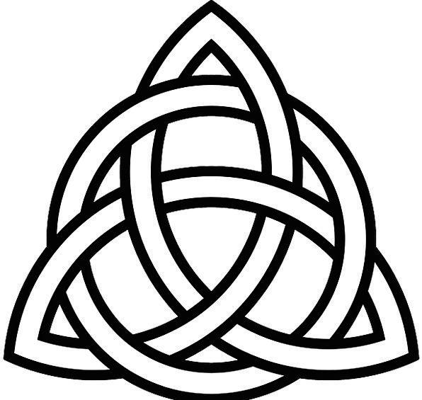 Celtic Ethnic Knot Lump Tribal Symbol Sign Interlaced