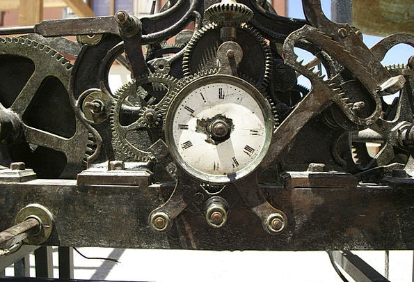 Clock Timepiece Mechanisms Wheels Helms Cogs Antiq