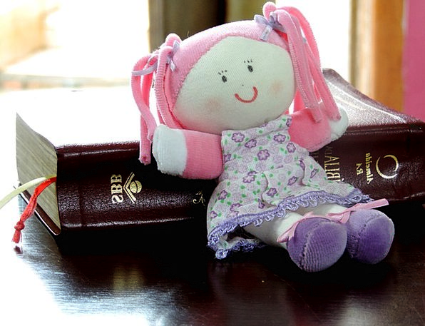 Rag Doll Counter Toy Child Youngster Doll Bible Te