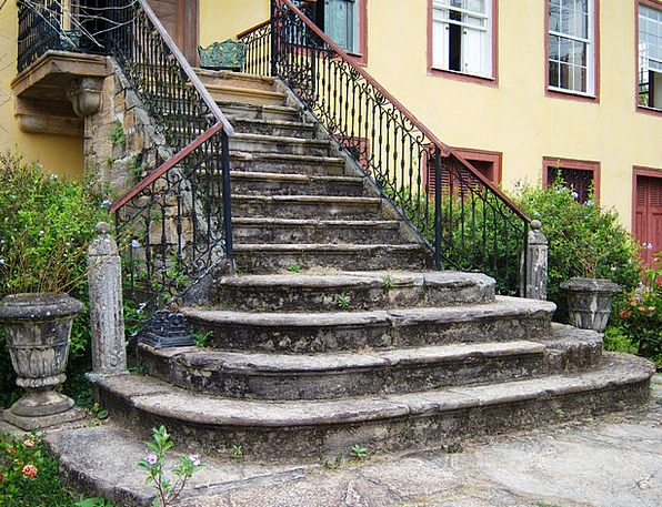 Stone Stairway Ranking Farmhouse Farm Ladder Banan