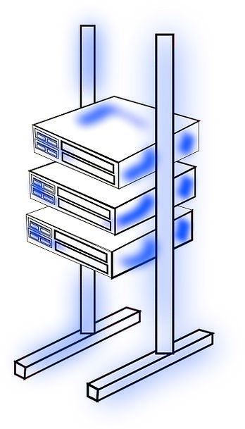 Server Waiter Edge Rack Stand Frame Mounted Equest