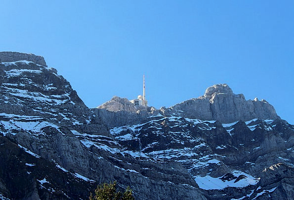 Säntis Conference Mountains Crags Summit Swiss Alp