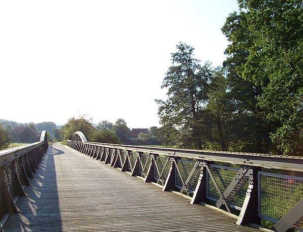Steel Strengthen Viaduct Old Bridge Railway Bridge