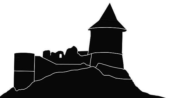 Silhouette Outline Fortress Medieval Castle Castle