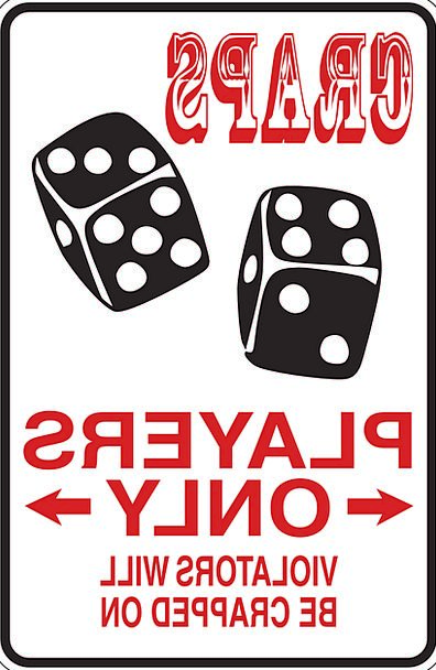 Craps Companies Only Lone Players Bet Sign Symbol