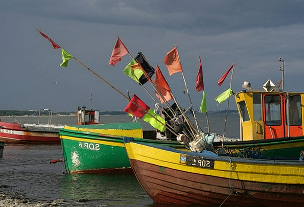 Baltic Sea Coast Sopot Poland Boats Ships
