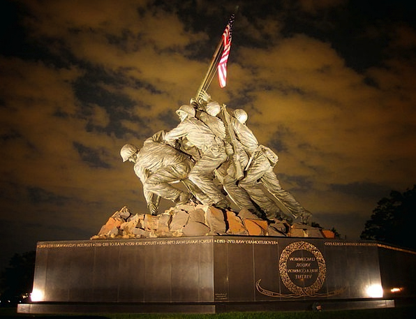 Marine Corps Memorial Monuments Places Statue Figu