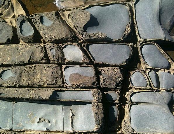 Rock Pillar Textures Feel Backgrounds Gray Leaden