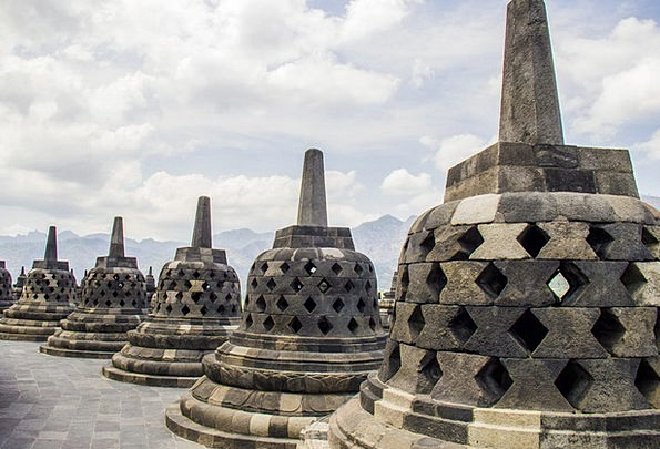 Borobudur Stupa Candi Temple Shrine Java Indonesia