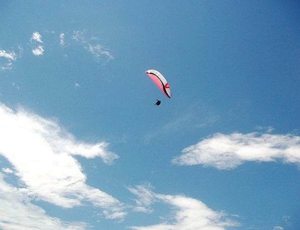 Paragliding Hovering Soaring Rising Flying Cloud S