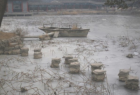 Boat Ship Ice-covered Ice Frost Frozen Stuck Wedge