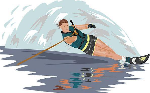 Water Skiing Skier Slalom Lifestyle Athlete Sports